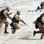 soldiers raiding a beach